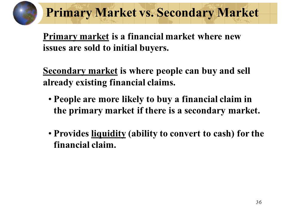 Primary Market vs.