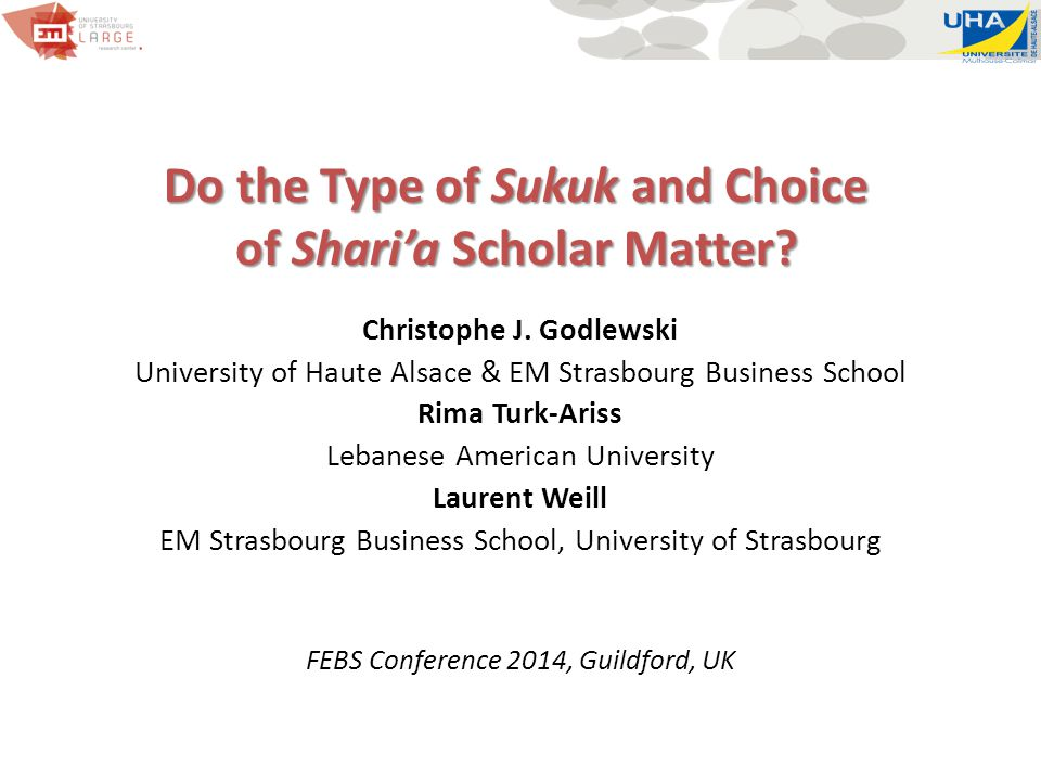 Do the Type of Sukuk and Choice of Shari'a Scholar Matter.