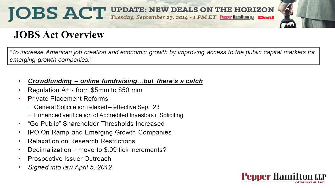 JOBS Act IPO On-Ramp