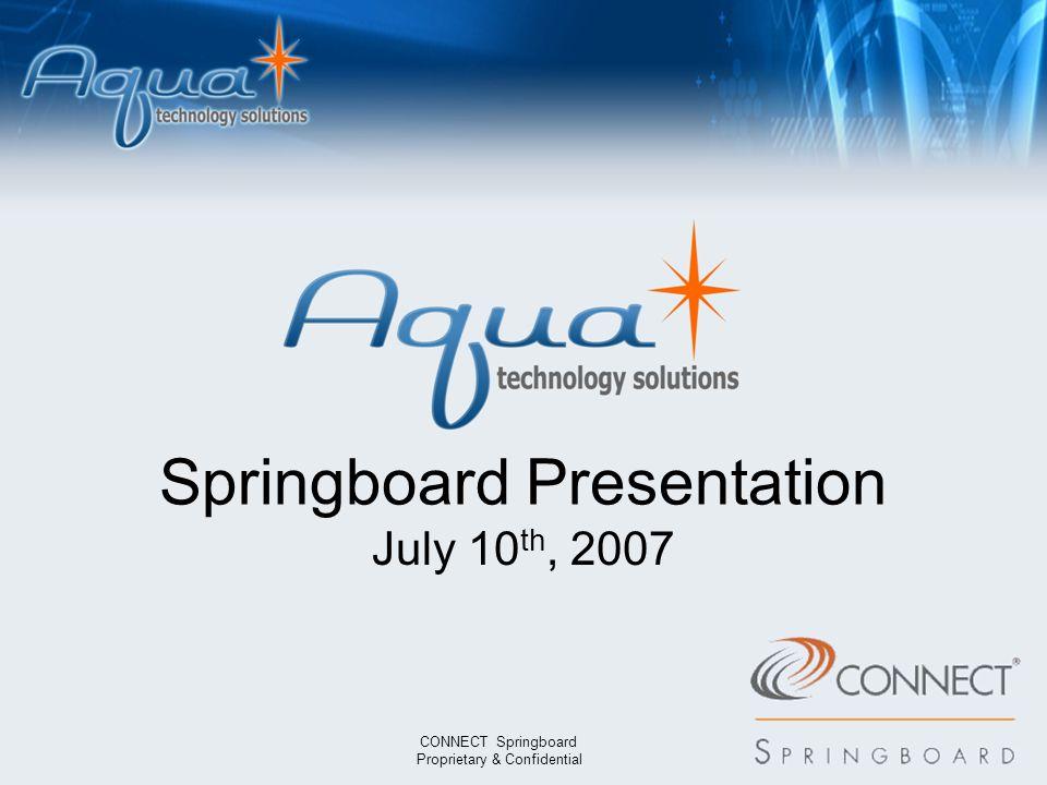 8093 6744 1072 9572 7338 1179 7742 0064 Springboard Presentation July 10 th, 2007 CONNECT Springboard Proprietary & Confidential