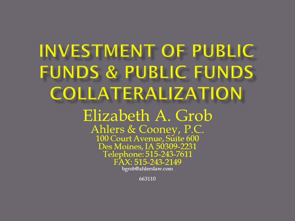 Elizabeth A. Grob Ahlers & Cooney, P.C.