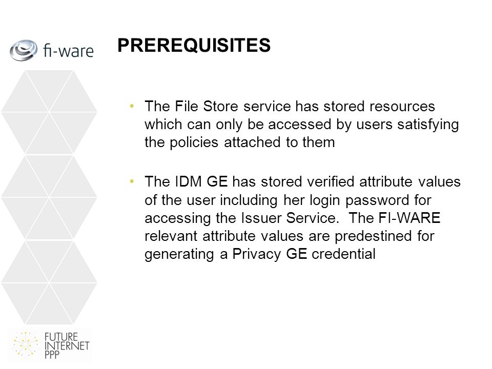 Benefits of the Demo Developing a demonstrator which can be presented inside FI-WARE and as well outside (e.g.