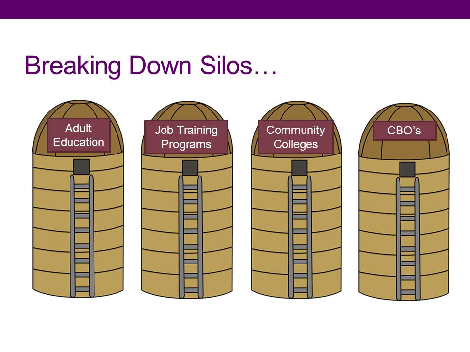 Adult Education Job Training Programs Community Colleges CBO's Breaking Down Silos…