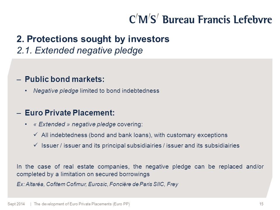 | 2. Protections sought by investors 2.1.