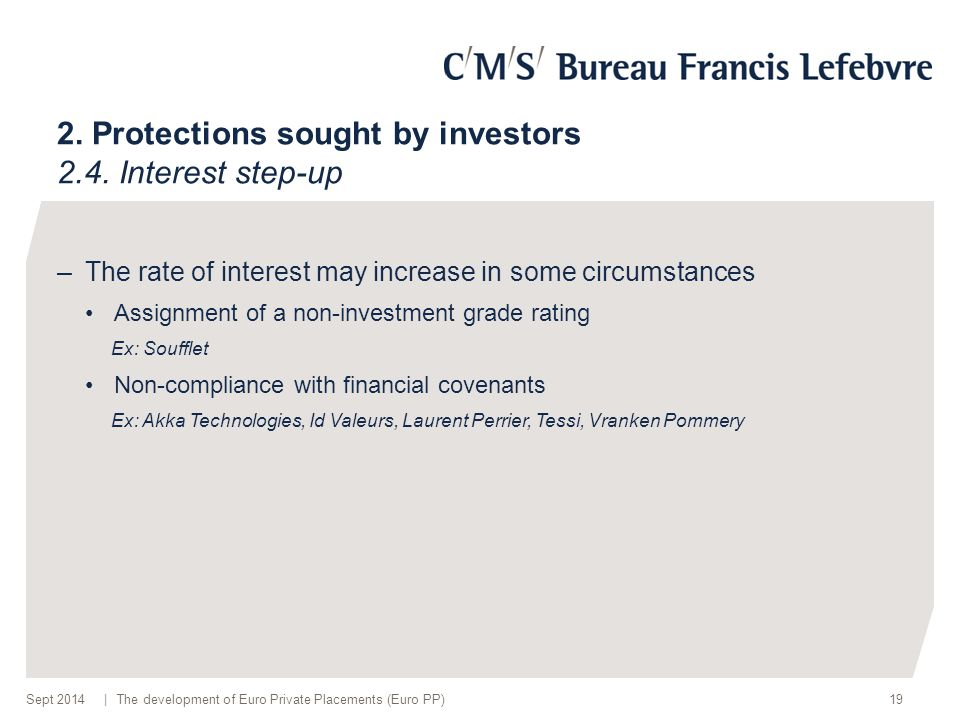 | 2. Protections sought by investors 2.4.