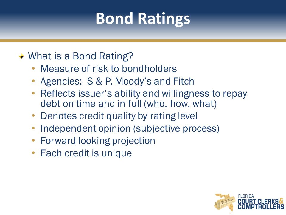 Bond Ratings What is a Bond Rating.