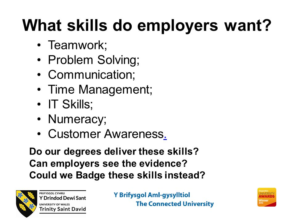What skills do employers want.