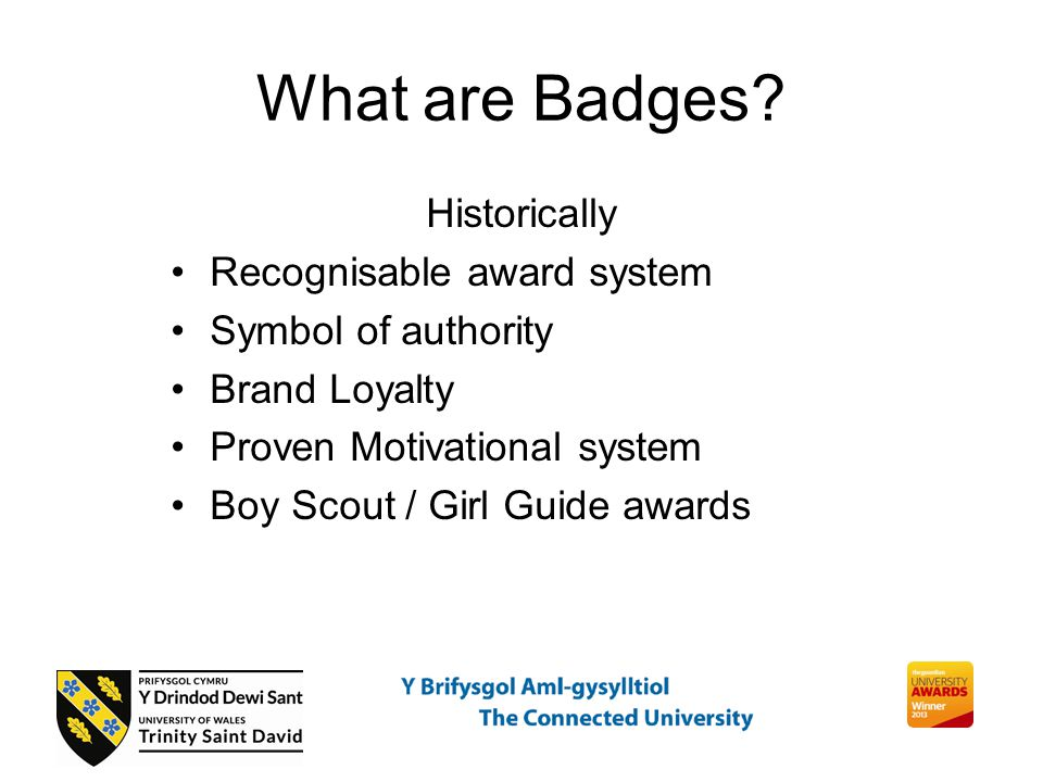 What are Badges.