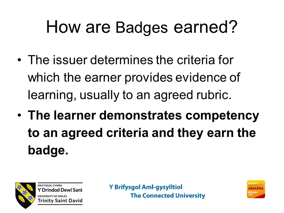 How are Badges earned.