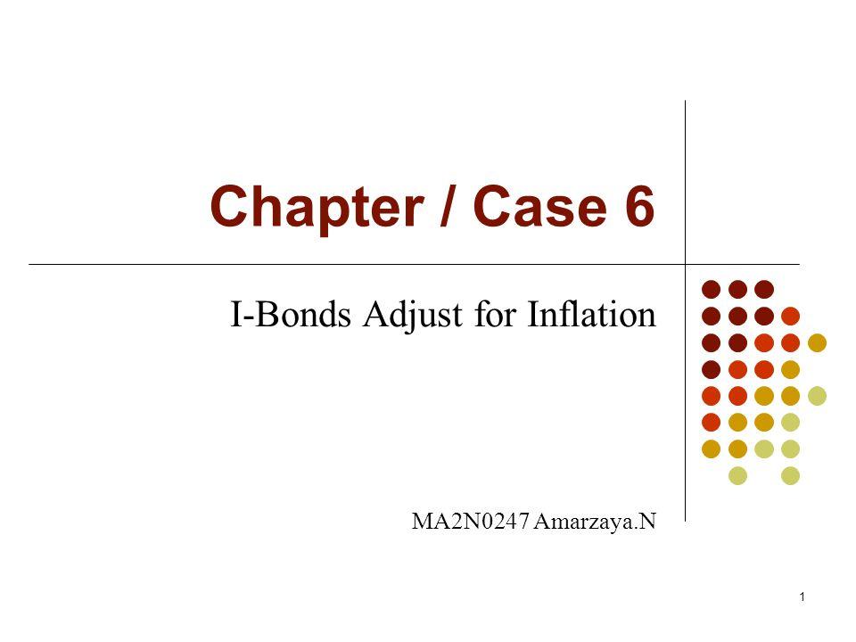 Chapter / Case 6 I-Bonds Adjust for Inflation MA2N0247 Amarzaya.N 1