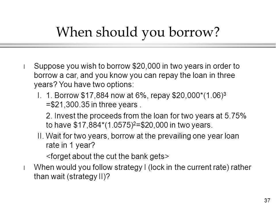 37 When should you borrow.