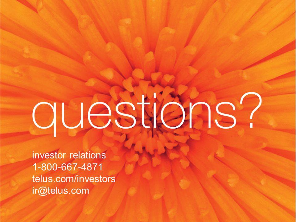 investor relations 1-800-667-4871 telus.com/investors ir@telus.com