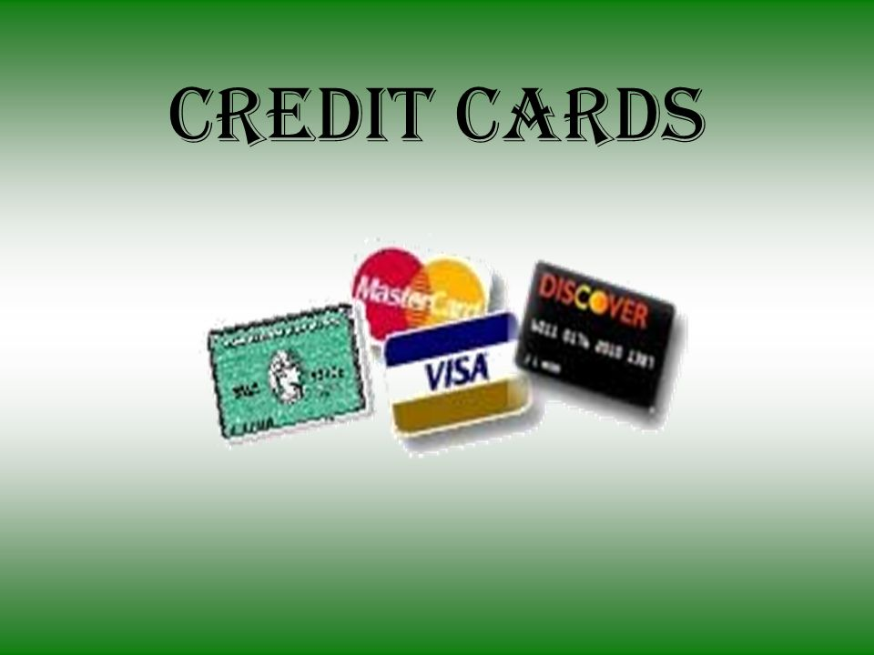 What are Credit Cards.