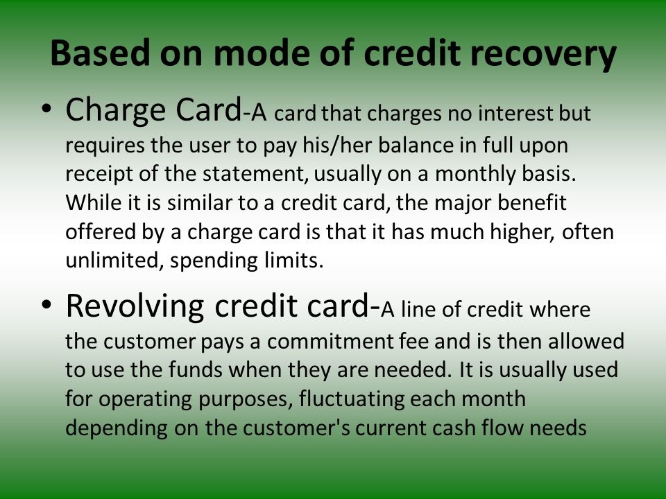 To credit card companies/ Banks : Source of revenue - Joining fee - card renew fee - services charges from retailers - Interest charged to customer