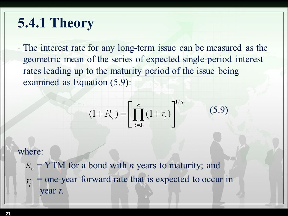 Sample Problem 5.5 The forward rate takes on the values 5 %, 6 %, and 4 % for t =1, 2, and 3, respectively.