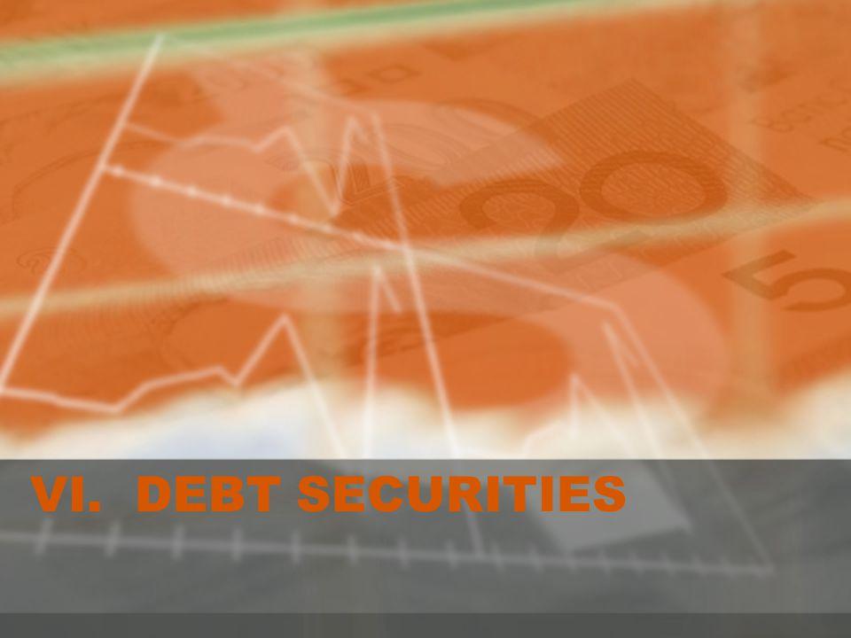 VI. DEBT SECURITIES