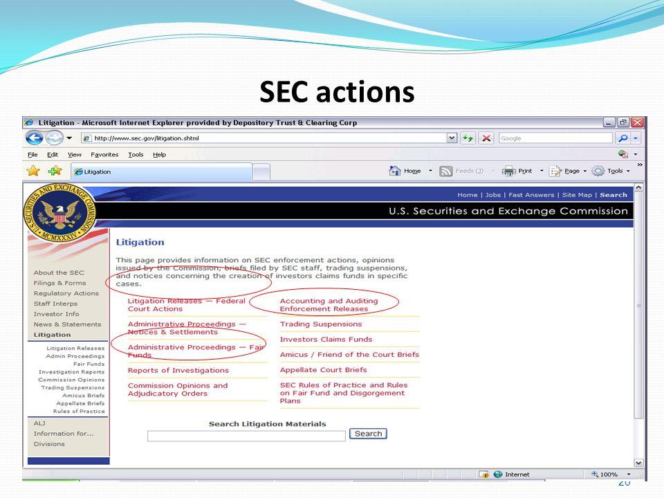 SEC actions 20