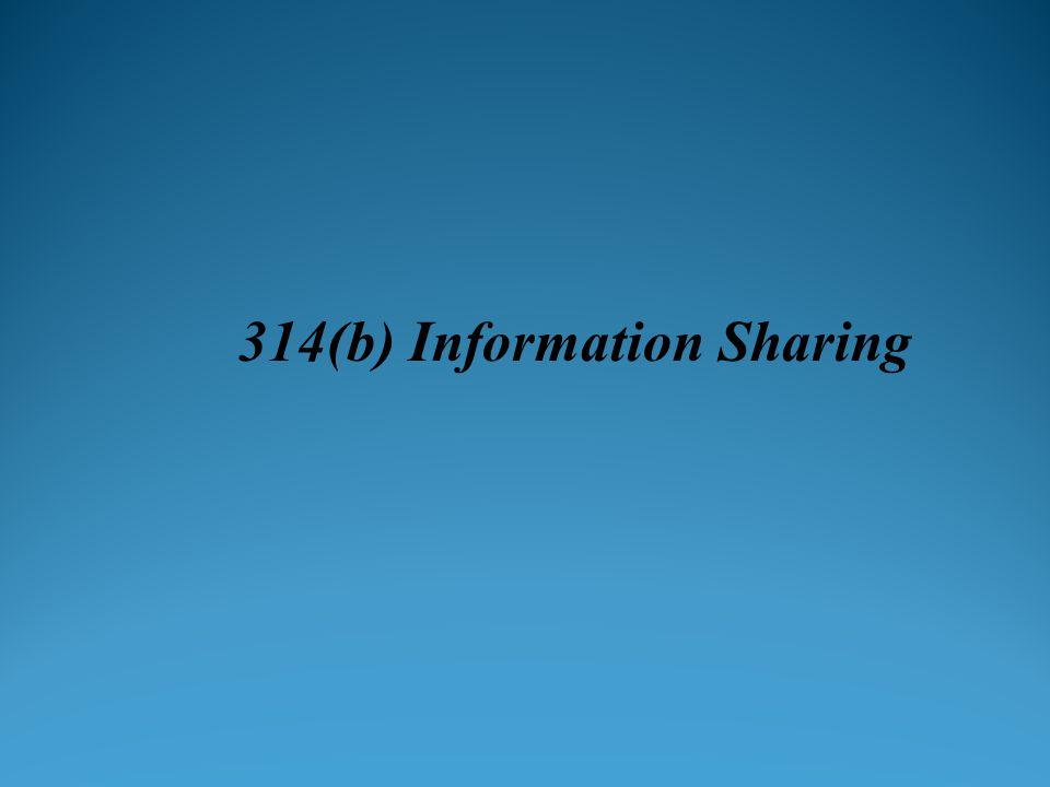 314(b) Information Sharing