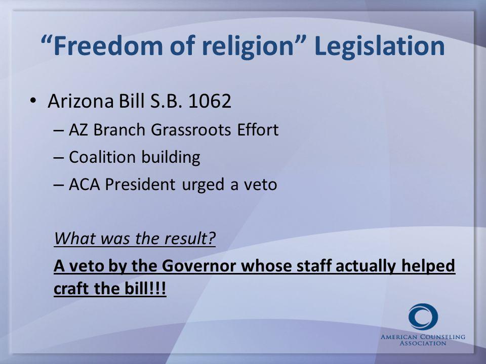 Freedom of religion Legislation Arizona Bill S.B.