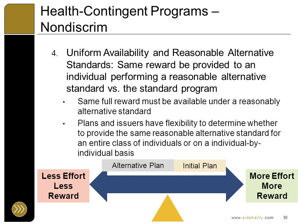 www.eidebailly.com Health-Contingent Programs – Nondiscrim 4.