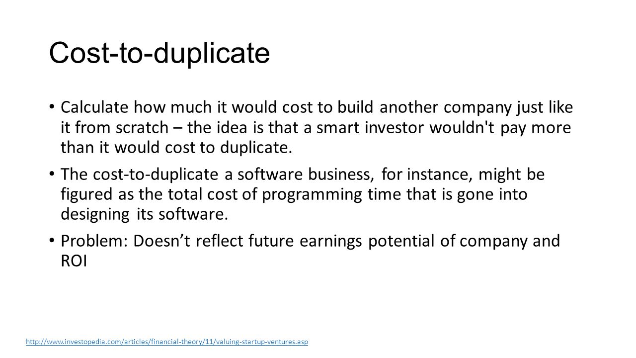 Market multiple Values the company against recent acquisitions of similar companies in the market.