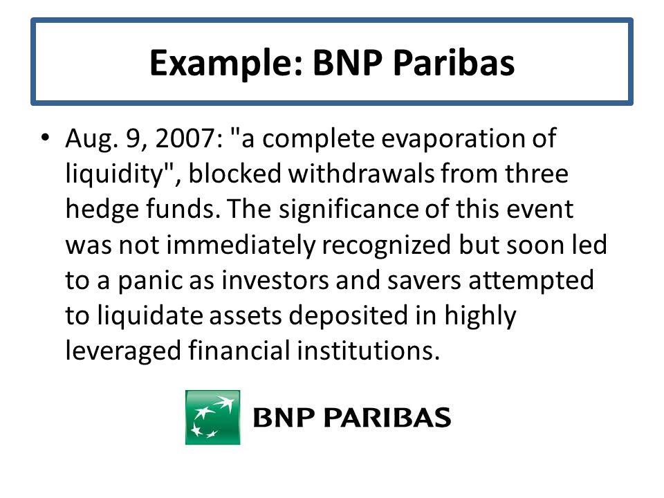 Example: BNP Paribas Aug.
