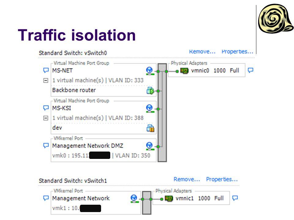 Traffic isolation