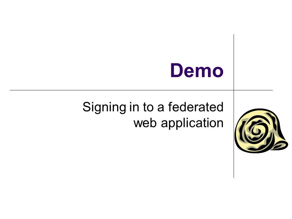 Demo Signing in to a federated web application