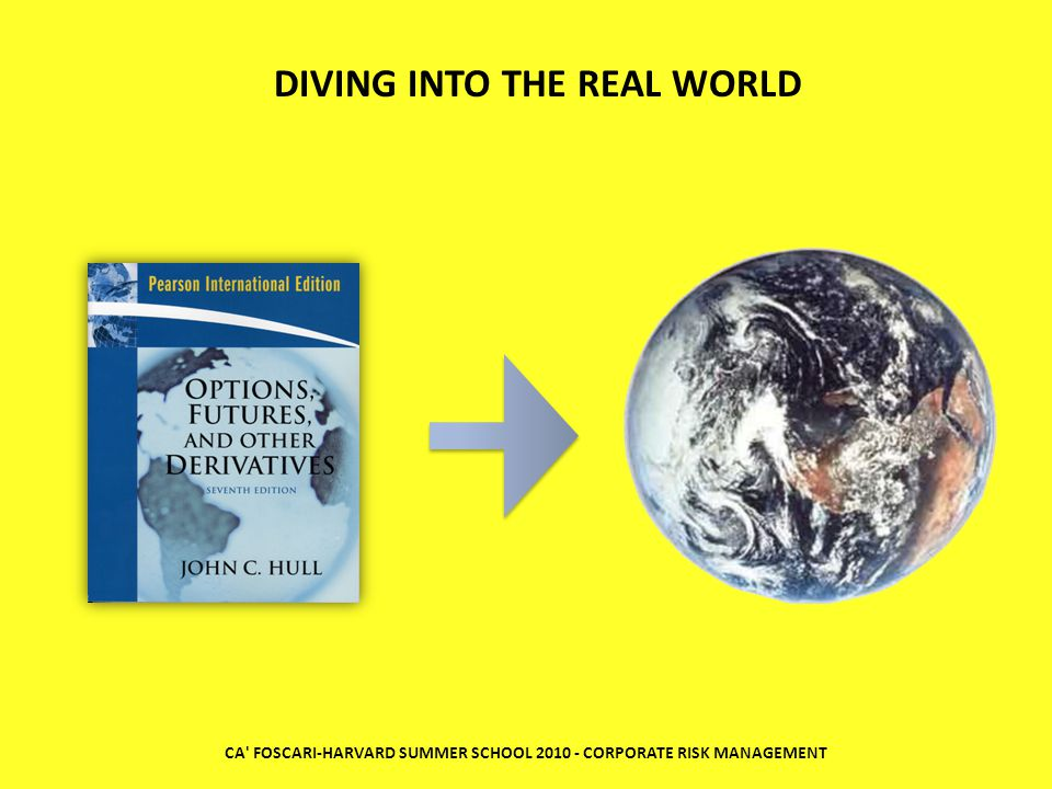 CA FOSCARI-HARVARD SUMMER SCHOOL 2010 - CORPORATE RISK MANAGEMENT DIVING INTO THE REAL WORLD