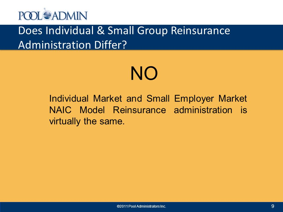 Does Individual & Small Group Reinsurance Administration Differ.