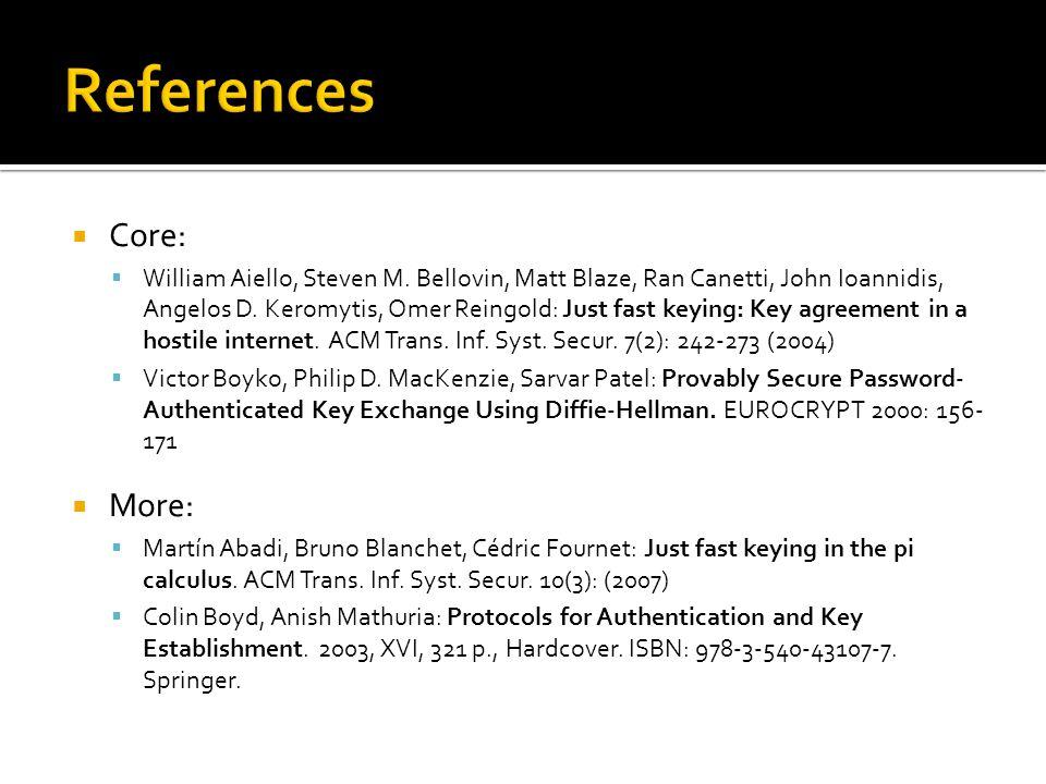  Core:  William Aiello, Steven M. Bellovin, Matt Blaze, Ran Canetti, John Ioannidis, Angelos D.