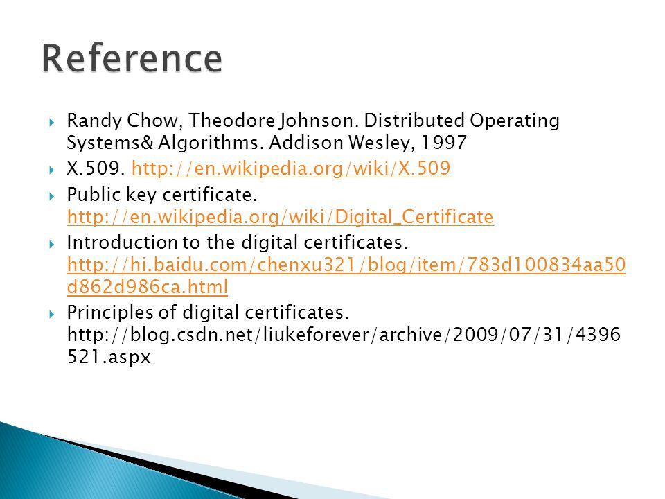  Randy Chow, Theodore Johnson. Distributed Operating Systems& Algorithms.