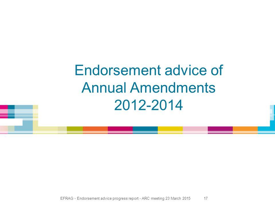 17 Endorsement advice of Annual Amendments 2012-2014