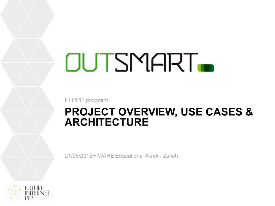 OUTLINE Project Overview Development process Use cases Functional architecture Design architecture