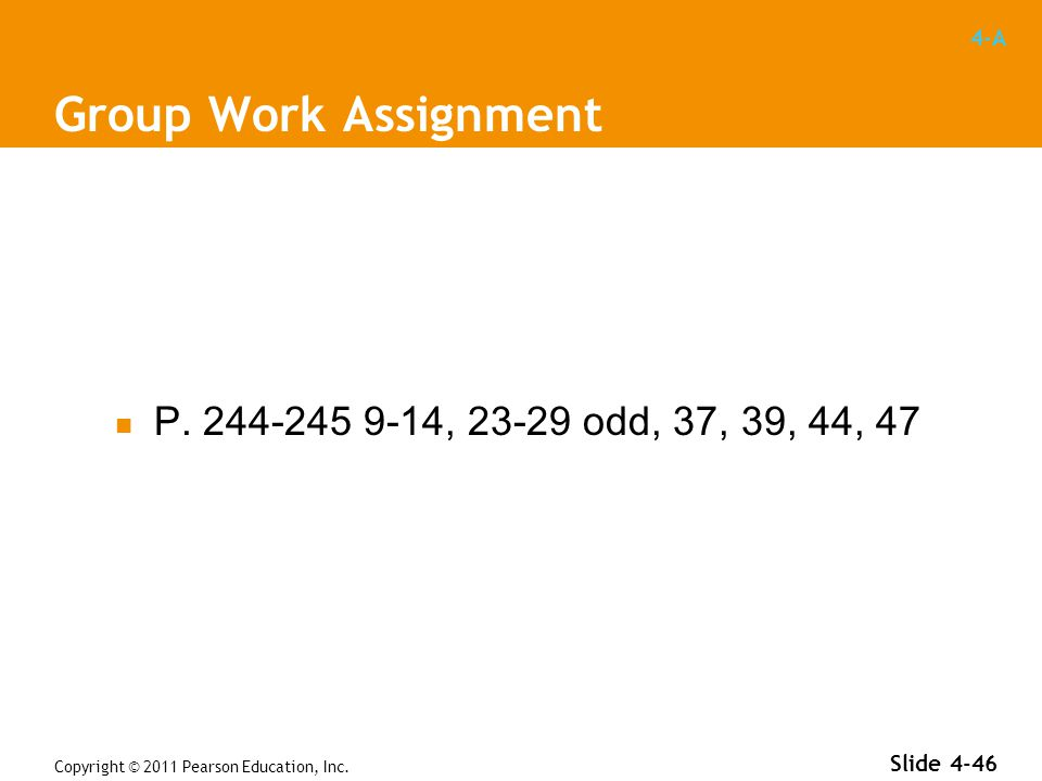 4-A Group Work Assignment P.