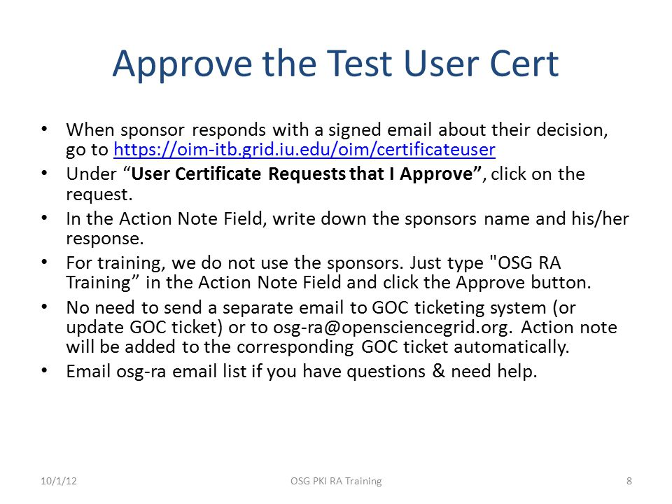 Retrieve the Test Cert Back to being a regular non-privileged user.