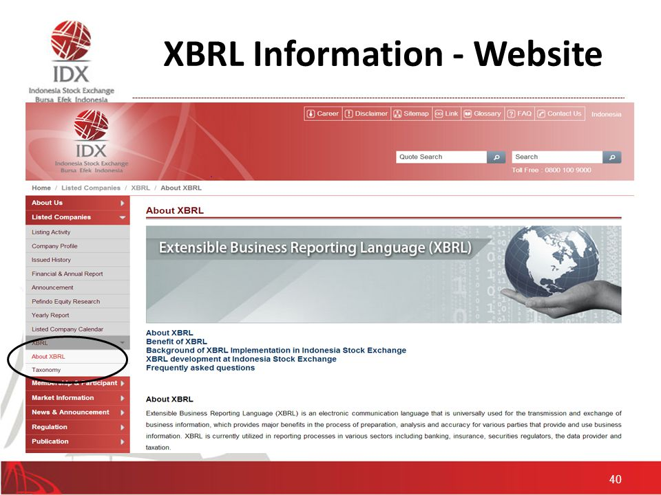 XBRL Information - Website 40