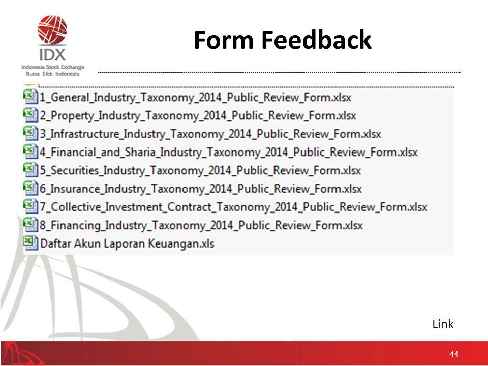 Form Feedback 44 Link