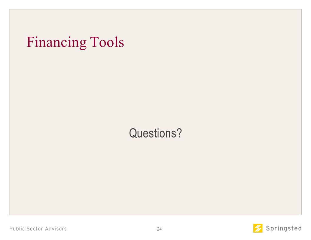 Financing Tools Questions 24