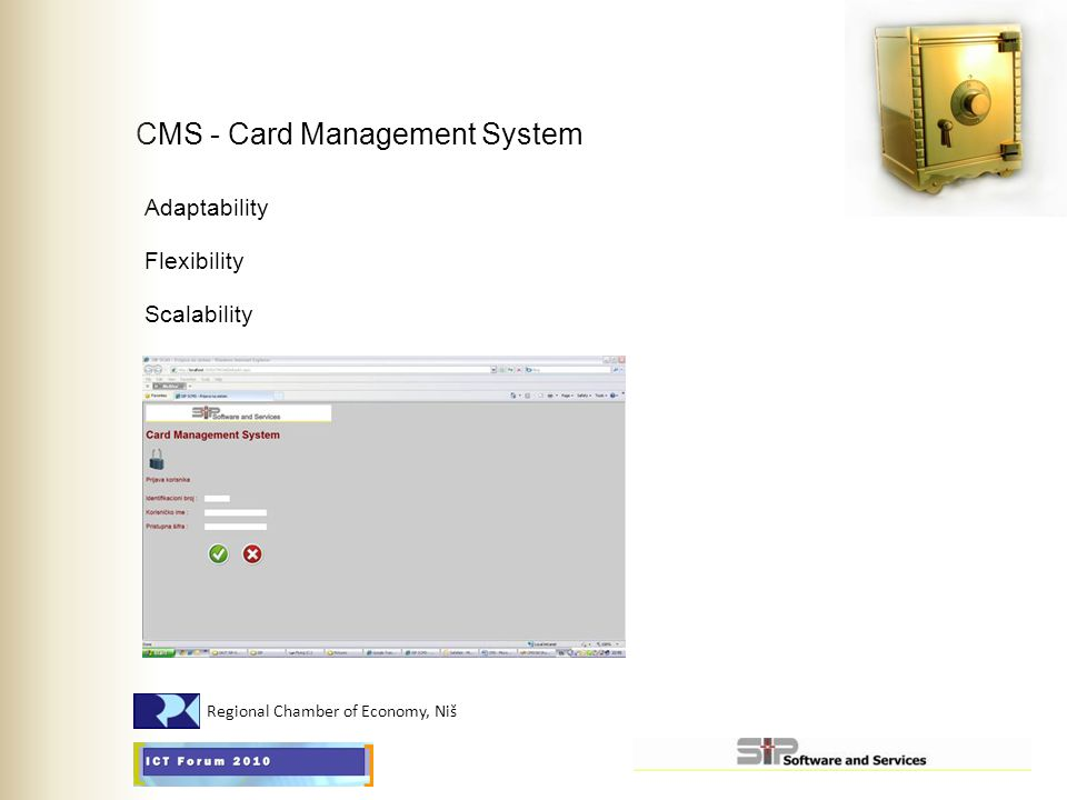 CMS - Card Management System Adaptability Flexibility Scalability Regional Chamber of Economy, Niš