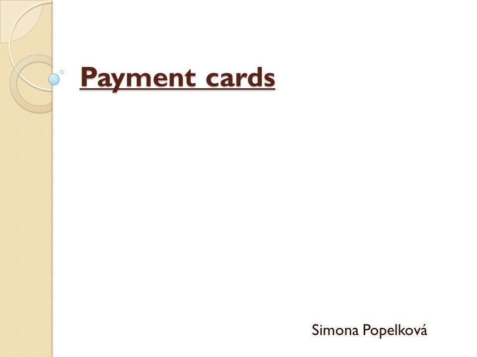 Payment cards Simona Popelková