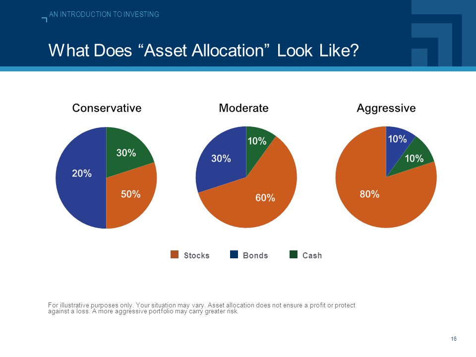 AN INTRODUCTION TO INVESTING 16 What Does Asset Allocation Look Like.