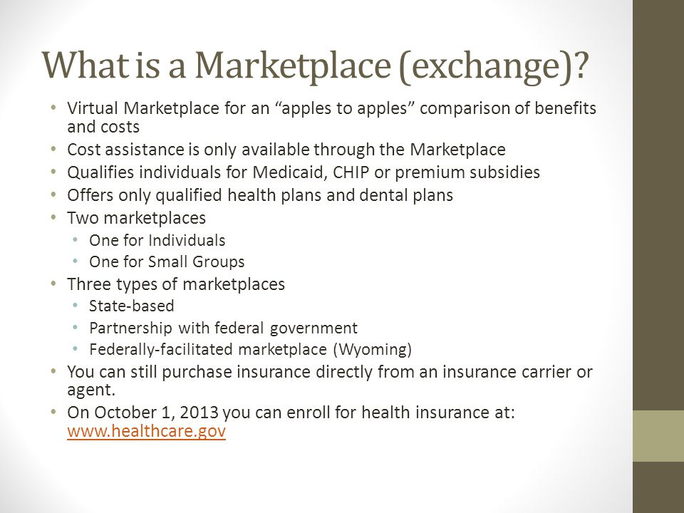 What is a Marketplace (exchange).