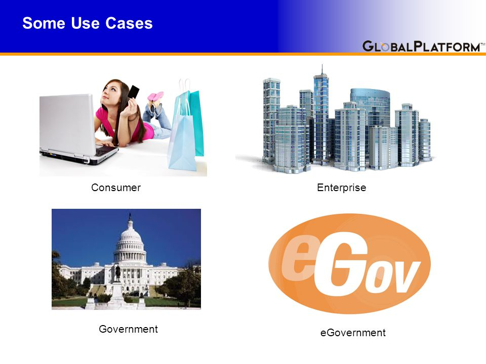 TM Some Use Cases Consumer Government eGovernment Enterprise