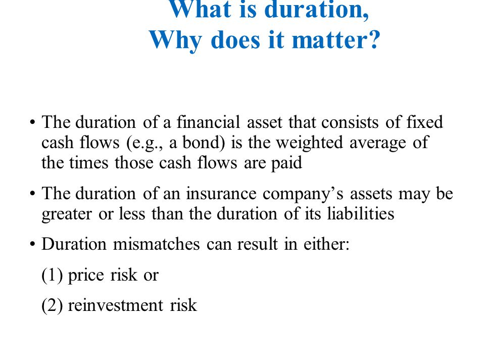 Duration hedging: What is duration, Why does it matter.