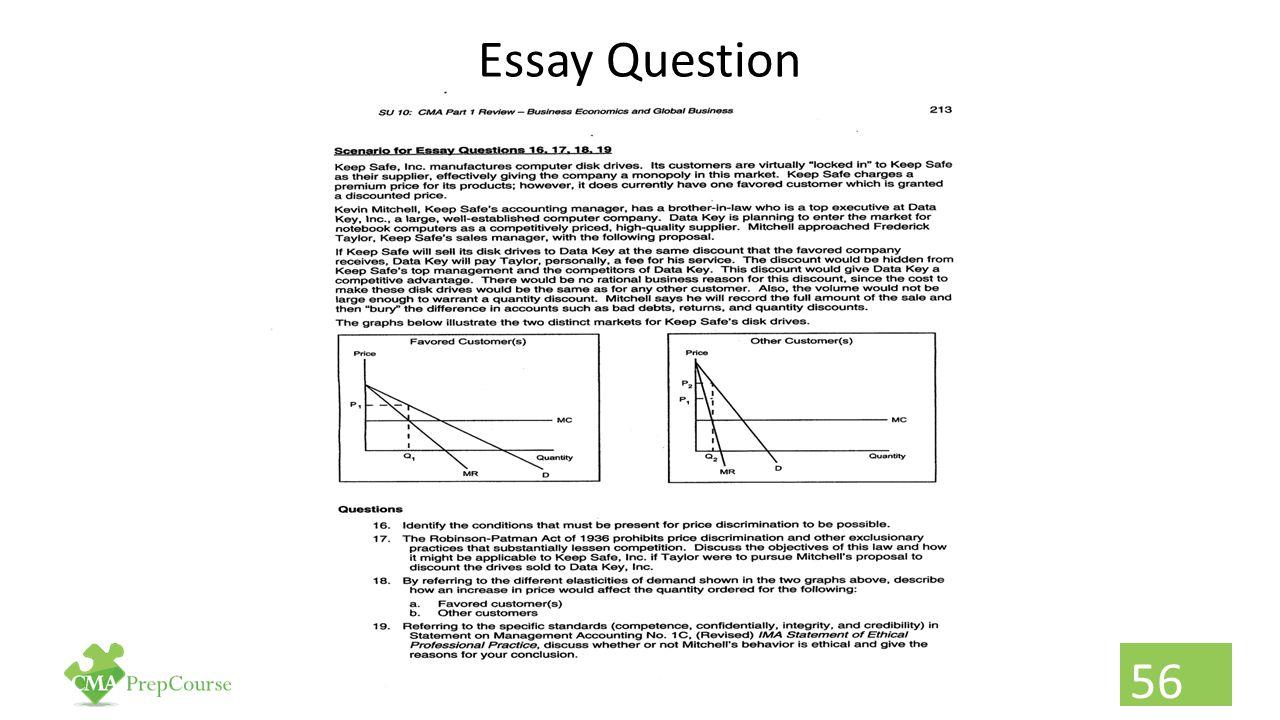 Essay Question 56