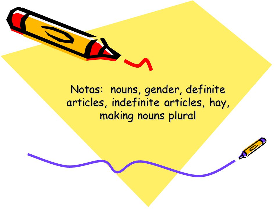 Nouns & Gender Nouns name 4 types of things: –People –Places –Things –Ideas (concepts)