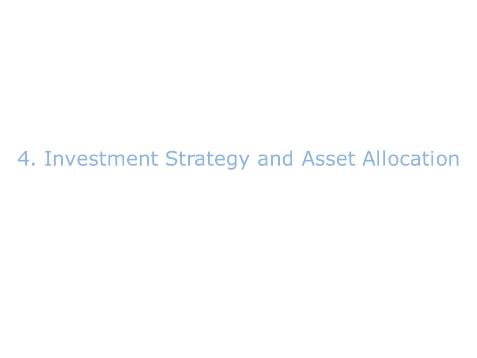 4.Investment Strategy and Asset Allocation