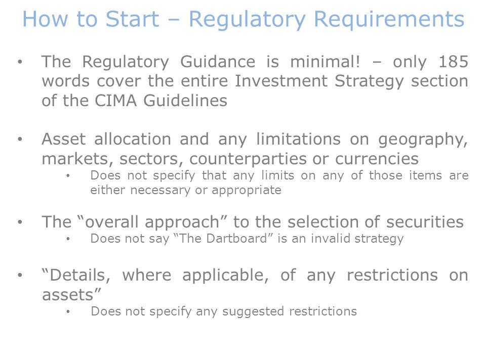 The Regulatory Guidance is minimal.
