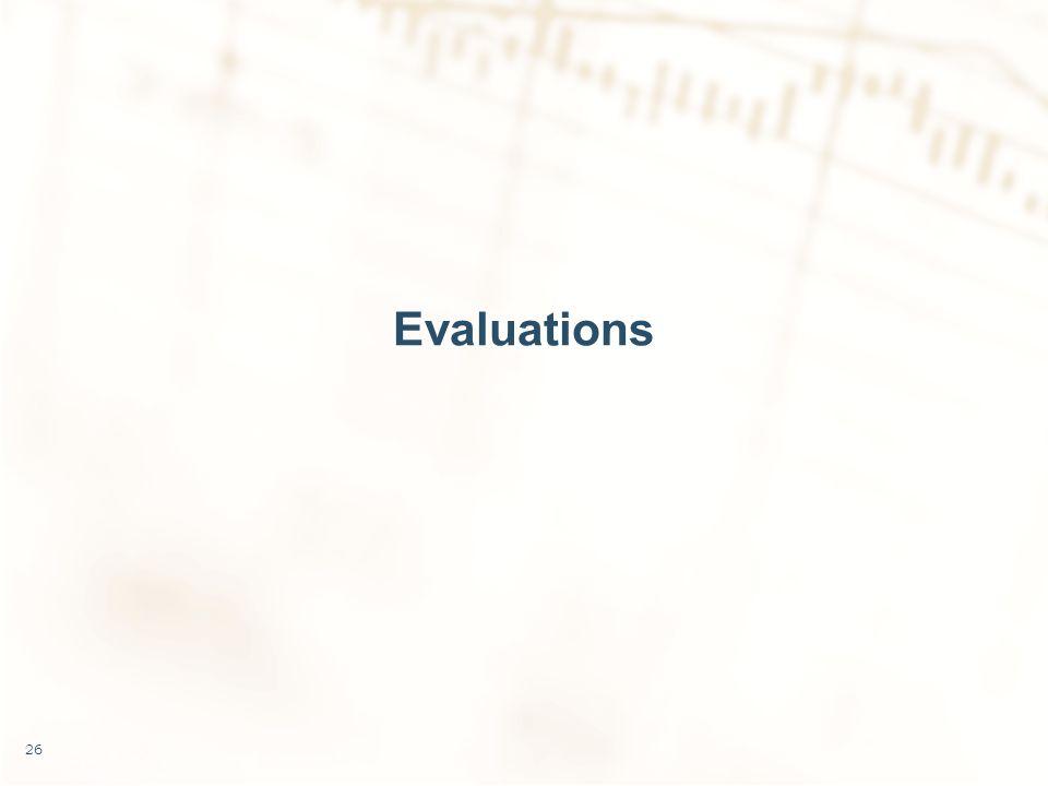 Evaluations 26